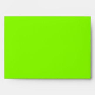 Neon Green & Black Zebra Glitter Stripes Envelope