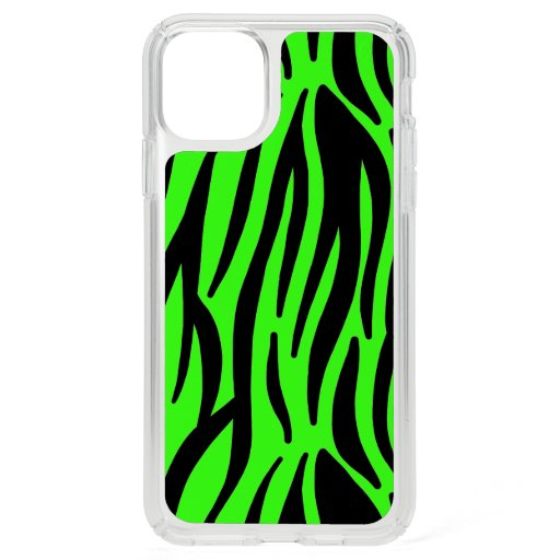 Neon Green Black Zebra Stripes Colorful Patterns Speck iPhone 11 Pro Max Case