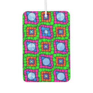 Neon Green Blue Orange Abstract Air Freshener