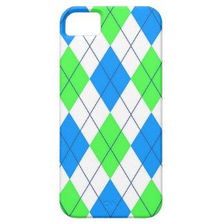 Neon Green Blue Plaid Bright iPhone SE/5/5s Case