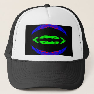 Neon Green Blue & Purple Light Design CricketDiane Trucker Hat