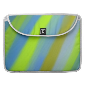 Neon green blue stripes pattern MacBook pro sleeves