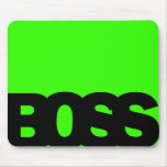 Neon Green BOSS Mouse Pads