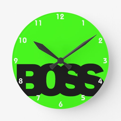 Neon Green BOSS Wall Clocks