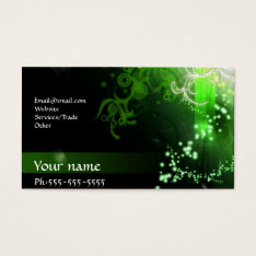 Neon Green Business Card at Zazzle
