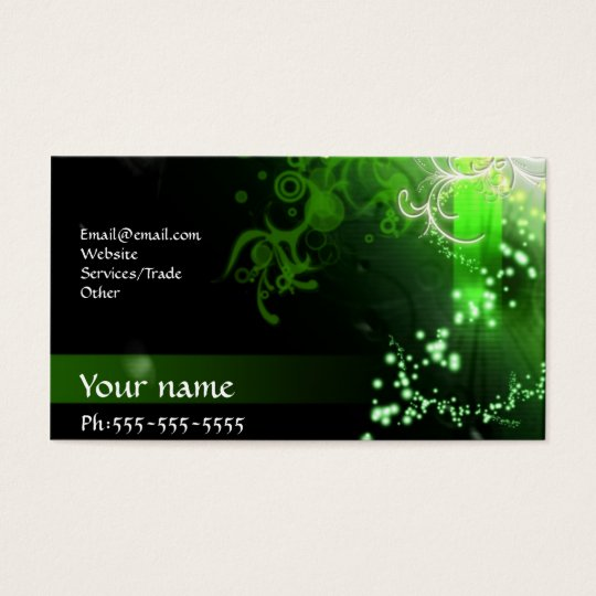 Neon green business card