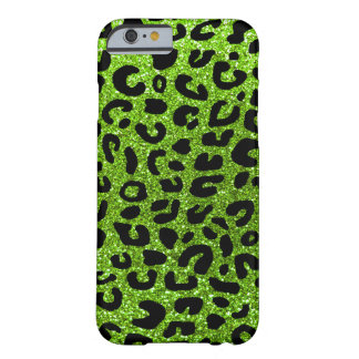 Neon green cheetah print barely there iPhone 6 case