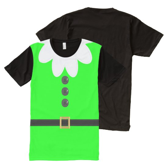 Neon Green Christmas in July Funny Elf T-Shirt