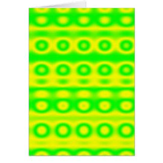 Neon Green Circle Abstract Greeting Cards