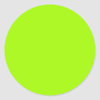 Neon Green Color Only Custom Products Round Sticker