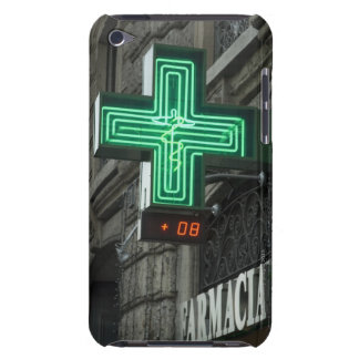 Neon Green cross outside Farmacia (Drug store or Barely There iPod Case