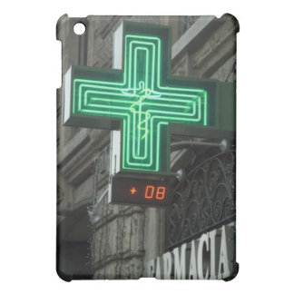 Neon Green cross outside Farmacia (Drug store or iPad Mini Covers