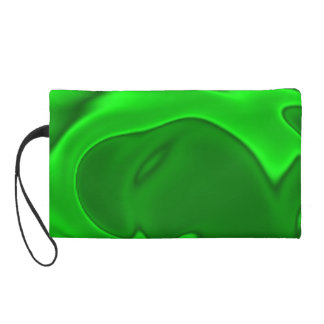 Neon Green Design Purse Clutch Bag