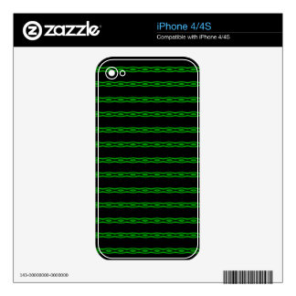 Neon Green Diamond Pattern Skins For The iPhone 4