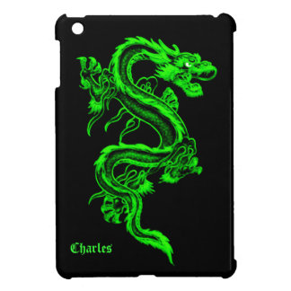 Neon Green Dragon iPad Mini Case