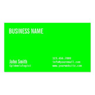 Neon Green Epidemiologist Business Card