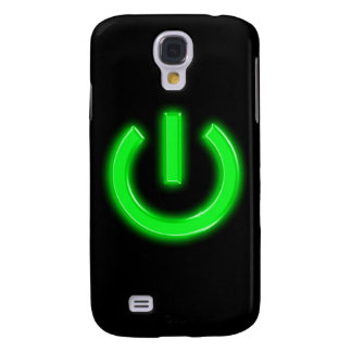 Neon Green Flourescent Power Button Galaxy S4 Cases