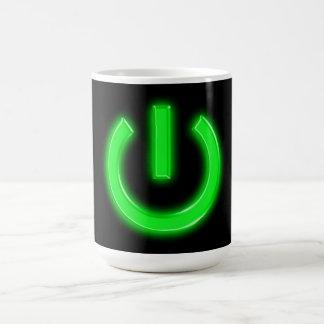Neon Green Flourescent Power Button Coffee Mug