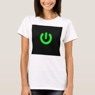 Neon Green Flourescent Power Button T-Shirt