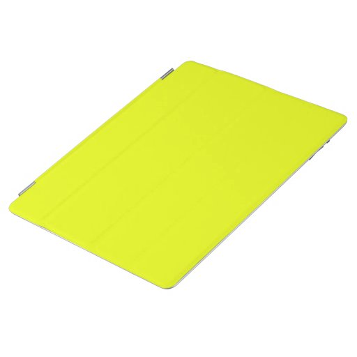neon green fluorescent solid color iPad smart cover