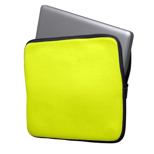 neon green fluorescent solid color  laptop sleeve
