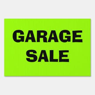Neon Green GARAGE SALE Sign! Lawn Sign
