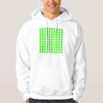 Neon Green Gingham Pattern by Shirley Taylor Hoodie
