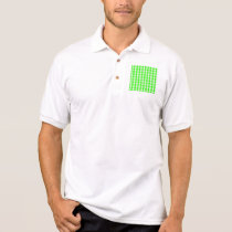 Neon Green Gingham Pattern by Shirley Taylor Polo Shirt