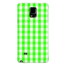Neon Green Gingham Pattern Galaxy Note 4 Case