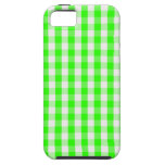 Neon Green Gingham Pattern iPhone 5 Cases