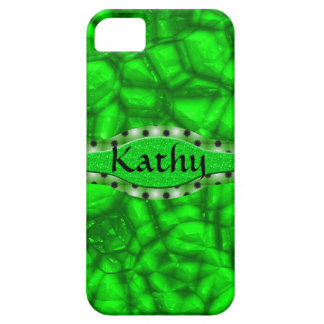 Neon Green Glossy Rock Stars iPhone SE/5/5s Case