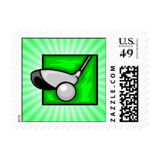 Neon Green Golf Stamps