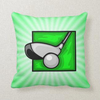 Neon Green Golf Throw Pillow