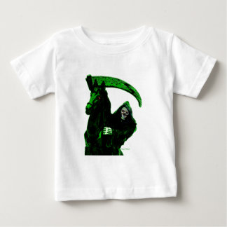 Neon Green Grim Reaper Horseman Series by Valpyra Baby T-Shirt