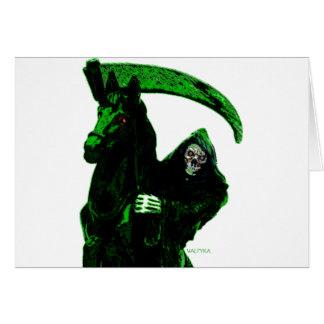 Neon Green Grim Reaper Horseman Series by Valpyra Card