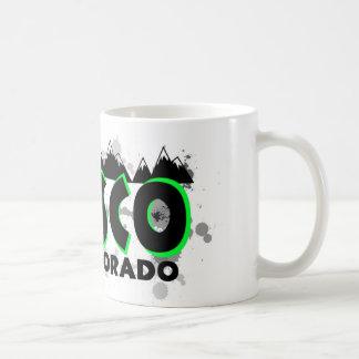 Neon green grunge Frisco Colorado Coffee Mug