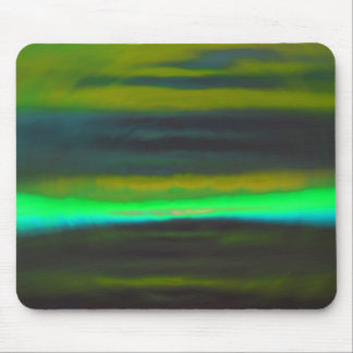 Neon Green Haze over the Black Lands Mouse Pad