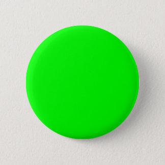 Neon green hex 00FF00 Pinback Button