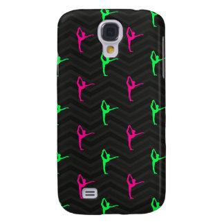 Neon Green, Hot Pink, Ballet Dancer, Black Chevron Galaxy S4 Case