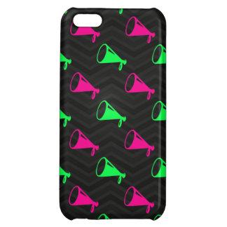 Neon Green, Hot Pink, Cheerleader, Black Chevron Cover For iPhone 5C