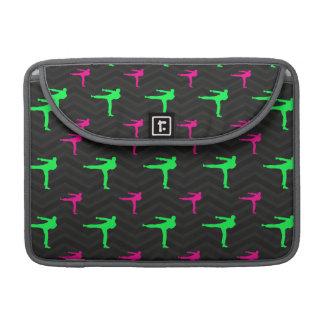 Neon Green, Hot Pink, Karate, Black Chevron Sleeves For MacBook Pro