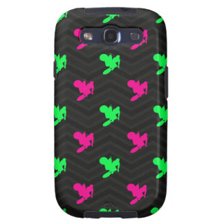 Neon Green, Hot Pink, Motocross, Black Chevron Samsung Galaxy S3 Cases