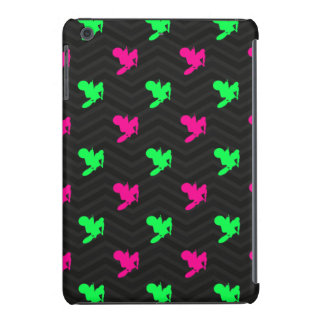 Neon Green, Hot Pink, Motocross, Black Chevron iPad Mini Retina Cover