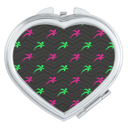Neon Green, Hot Pink, Running, Runner, Black Vanity Mirror