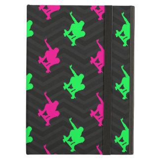 Neon Green, Hot Pink, Skater, Black Chevron iPad Air Cases