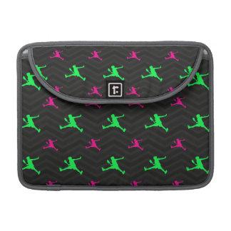 Neon Green, Hot Pink, Tennis Player, Black Chevron MacBook Pro Sleeves