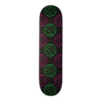 Neon Green, Hot Pink, Volleyball, Black Chevron Skate Decks