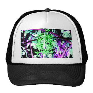 Neon Green Hyacinth Trucker Hat