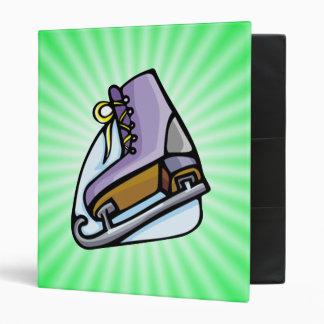 Neon Green Ice Skate. Binder