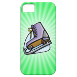 Neon Green Ice Skate. iPhone 5 Case